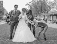 Hochzeitsfotografie an den Rheinpromenaden