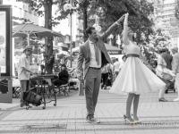 After Wedding-Shooting in der Fußgängerzone