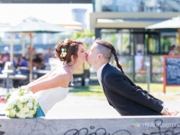Brautpaarshooting am Main (Oosten in Frankfurt)