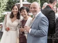 Die Brauteltern mit Ihrer Tochter
