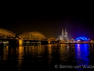 Rhein Panorama bei Nacht