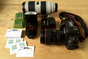 Equipment eines Fotografen