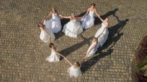 Hochzeitsvideo als Luftaufnahmen