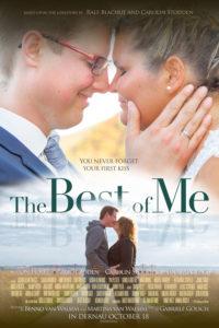 Filmposter für ein Brautpaar auf Leinwand